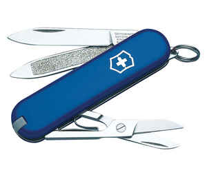 Victorinox Swiss Army  Classic SD  Blue  Stainless Steel  2.25 in. Pocket Knife