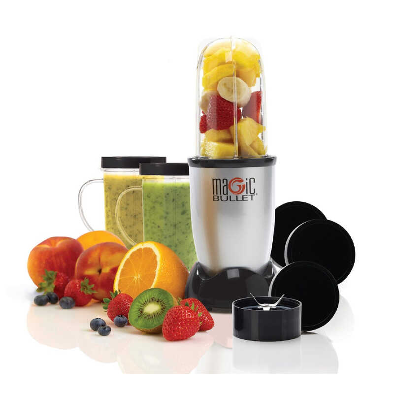 Magic Bullet  As Seen on TV  Black  Stainless Steel  Blender and Food Processor  19  1 speed