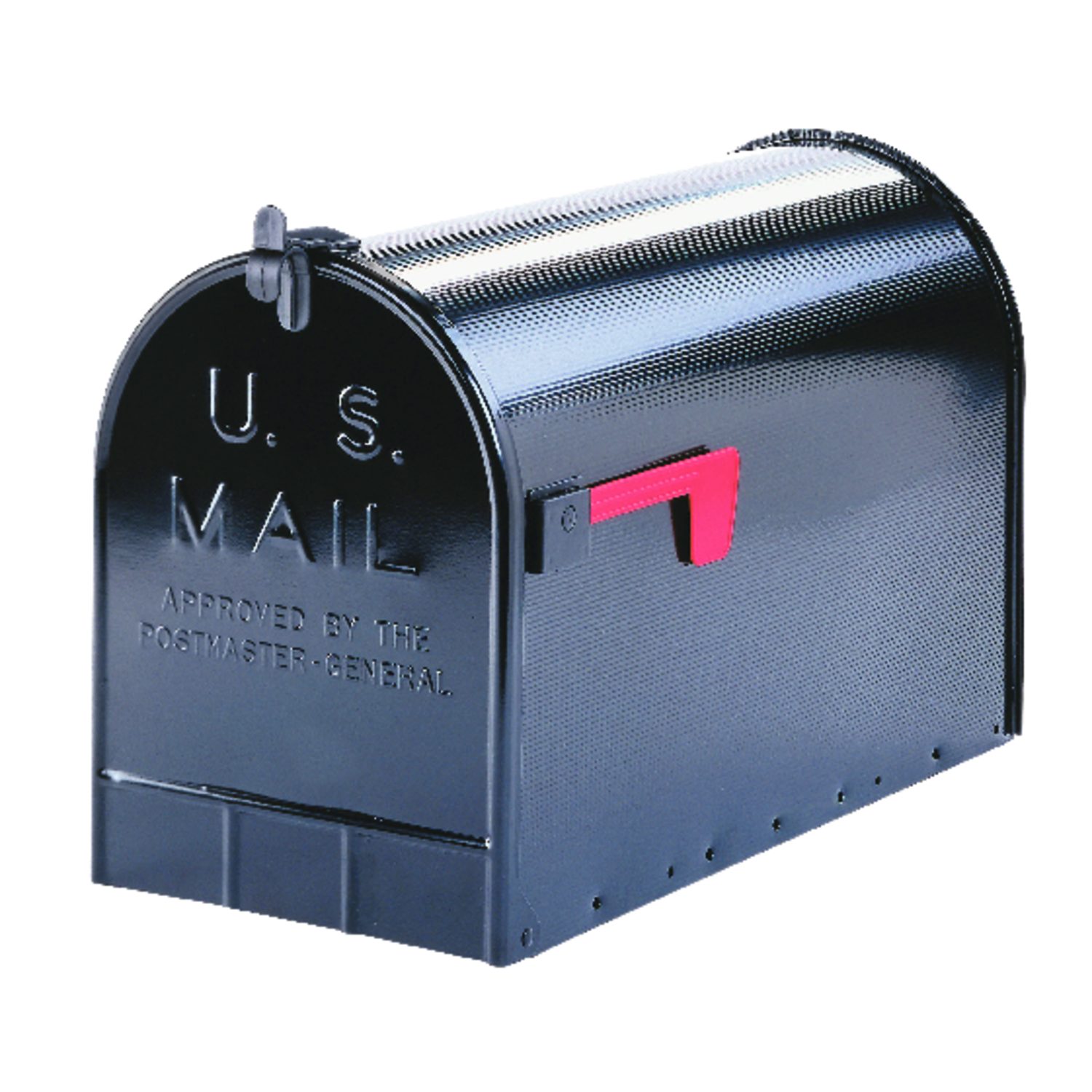 incredible Ace Hardware Mailbox Post Part - 7: Gibraltar Jumbo Galvanized Steel Post Mounted Black Mailbox 15 in. H x 11-1