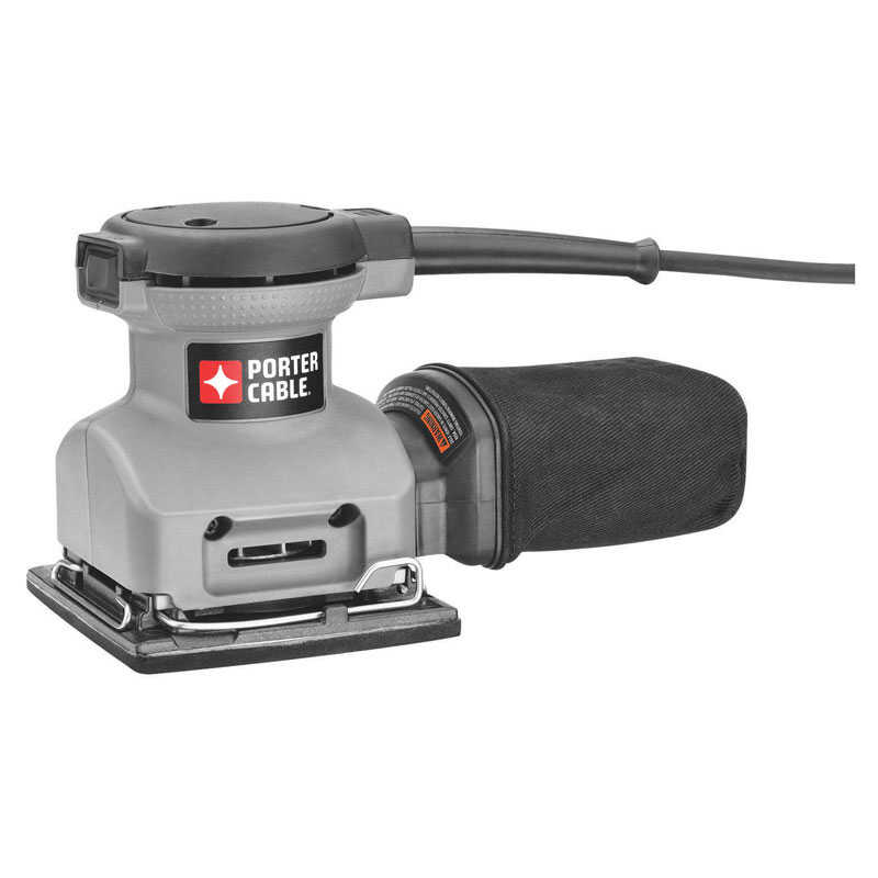 Porter Cable  2 amps 120 volt Corded  1/4 Sheet  Palm Sander  4.25 in. L x 4.5 in. W 13500 opm