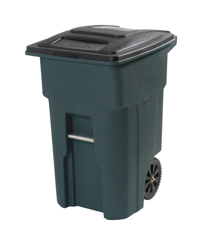Toter  32 gal. Plastic  Wheeled Trash Can