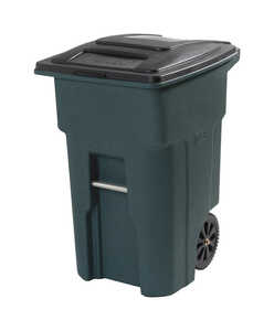 Toter  32 gal. Polyethylene  Wheeled Trash Can