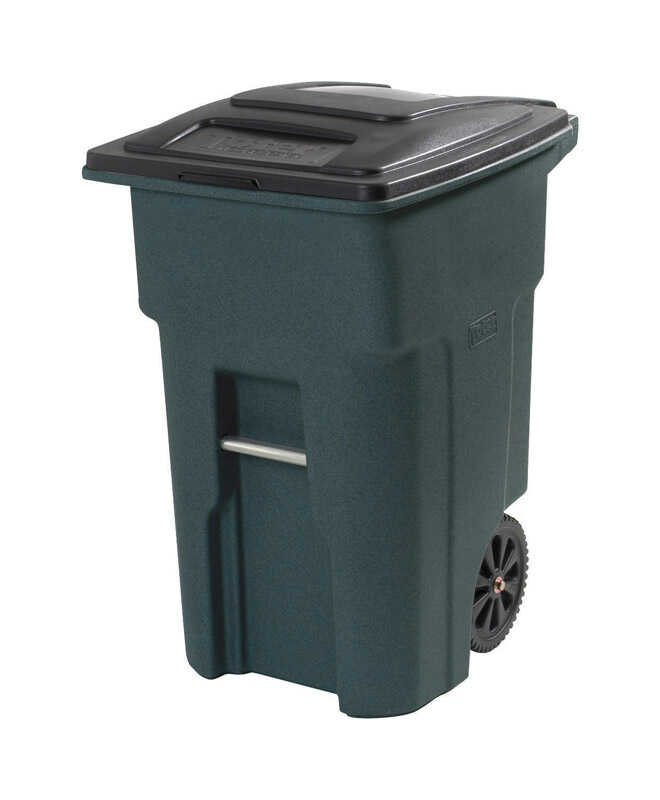 Toter  32 gal. Polyethylene  Wheeled Wheeled Trash Can  Lid Included