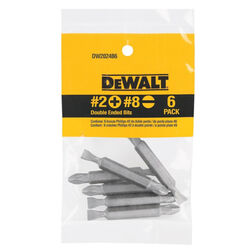 DeWalt Phillips/Slotted #2/#8 in. x 2 in. L Double-Ended Screwdriver Bit Heat-Treated Steel 6 p
