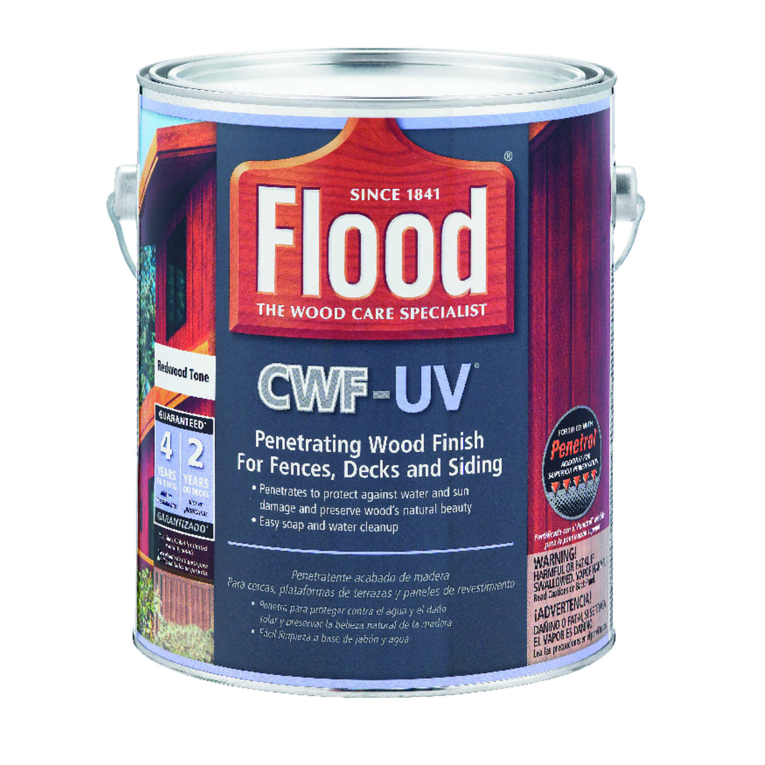 Flood  CWF-UV  Matte  Redwood  Water-Based  Wood Finish  1 gal.