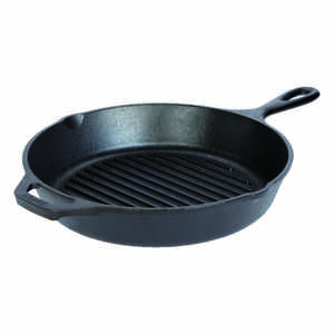 Lodge  Cast Iron  Grill Pan  10-1/4 in. Black