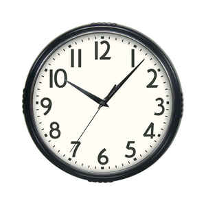Westclox  9-3/4 in. L x 9 in. W Indoor  Modern  Analog  Wall Clock  Glass/Plastic  Black