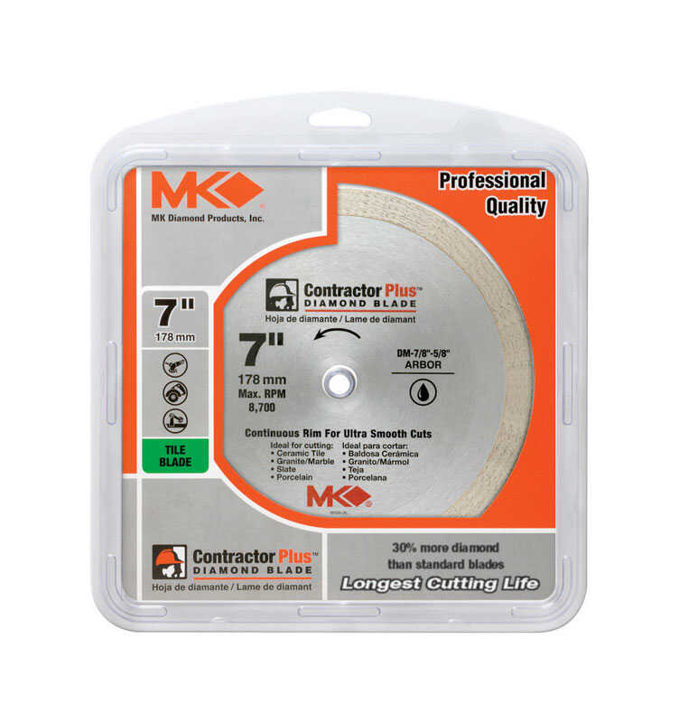 M.K. Diamond  Contractor Plus  Circular Saw Blade  5/8  1 pk 7  Diamond