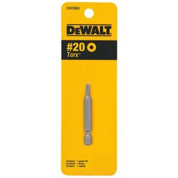 DeWalt Torx Star T20 in. x 2 in. L Power Bit Heat-Treated Steel 1 pc.