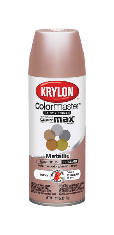 Krylon  ColorMaster  Rose Gold  Spray Paint  11 oz.