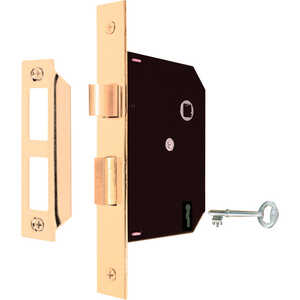 Prime-Line  Bright Brass  Steel  Mortise Replacement Lock Assembly  Grade 1  1-3/4 in.