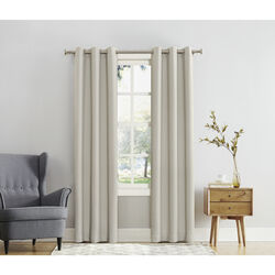 Sun Zero  Norwich  Ivory  Blackout Curtains  80 in. W x 84 in. L