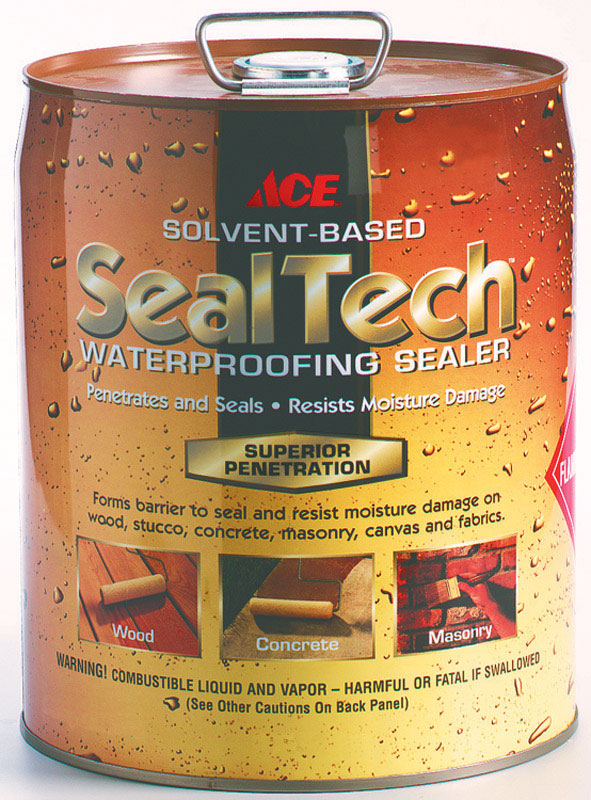Ace  SealTech  Solvent Based  Multi-Surface Waterproofer  5 gal. Clear