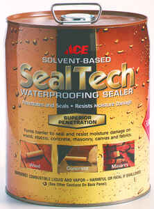 Ace  SealTech  Smooth  Clear  Solvent-Based  Multi-Surface Waterproofer  5 gal.