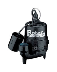 Flotec  Professional  1/3 hp 4080 gph Cast Iron  Tethered Float  Sewage Pump