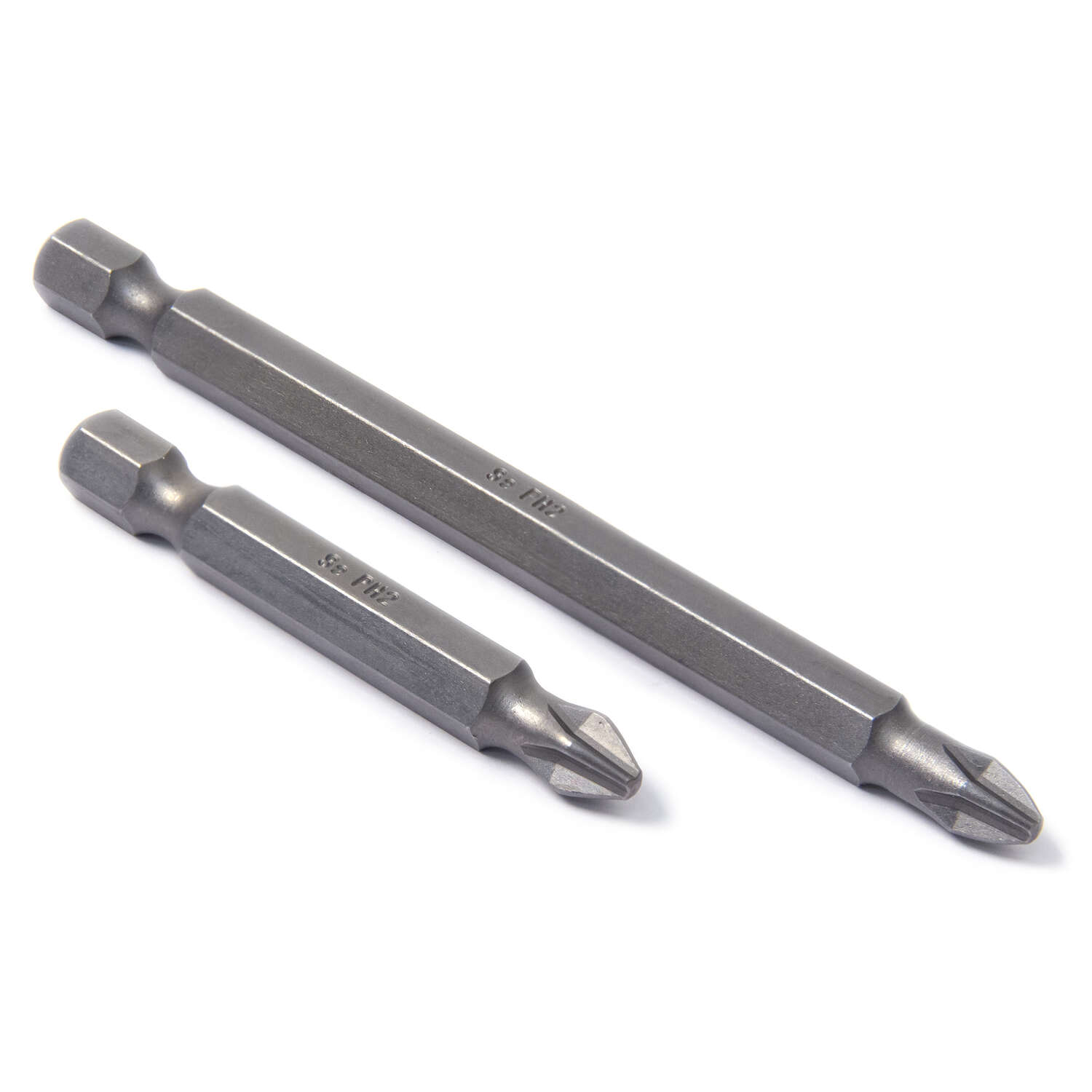 Ace  Phillips  2   x 2 and 3-1/2 in. L S2 Tool Steel  Screwdriver Bit  Quick-Change Hex Shank  2 pc.