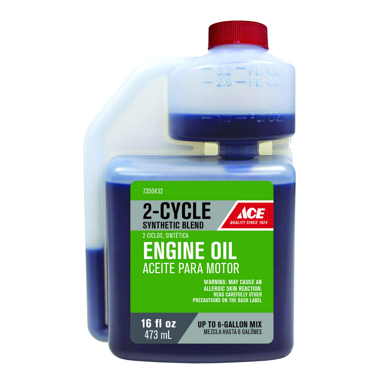 Ace  40:1/50:1  2 Cycle Engine  Synthetic  Motor Oil  16 oz.
