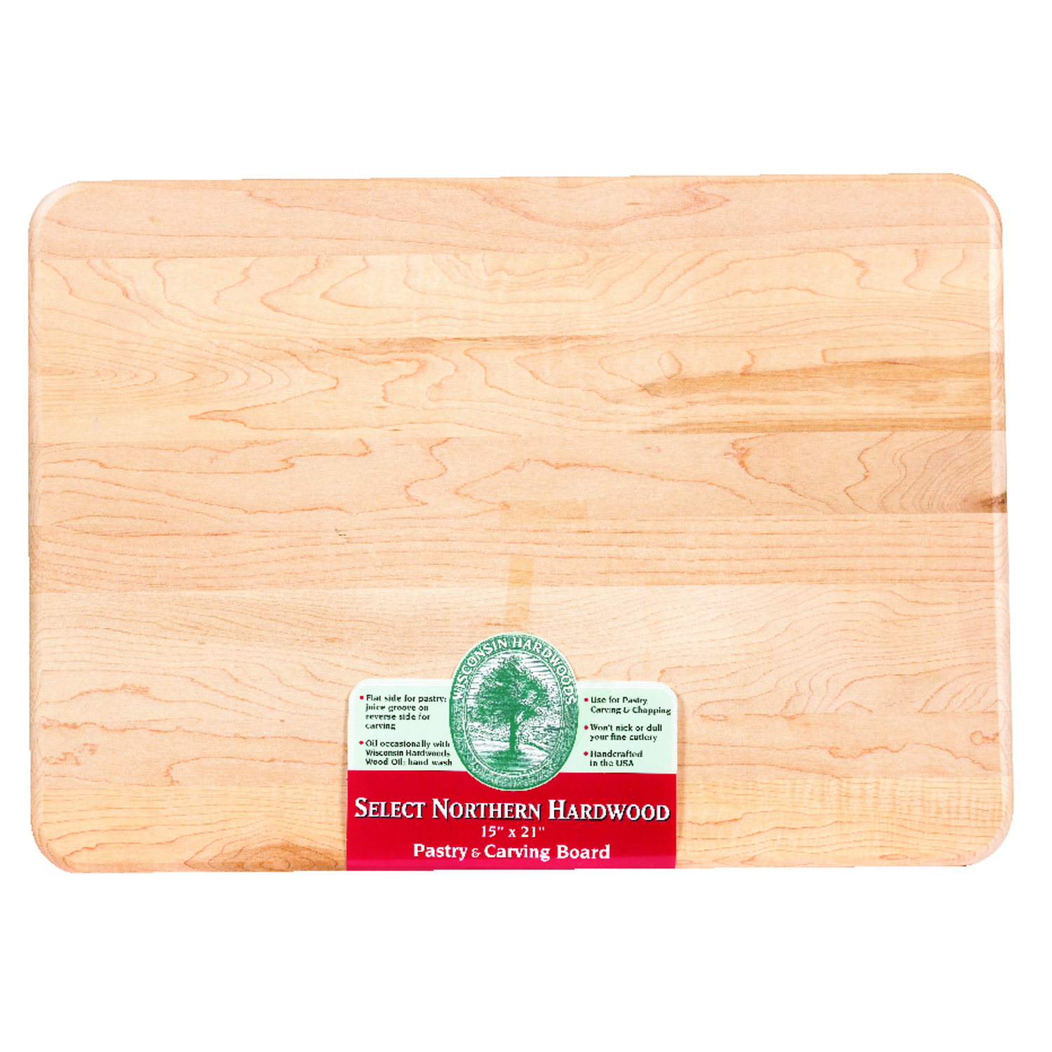 Snow River  15 in. W x 21 in. L Natural  Natural  Wood  Utility Cutting Board