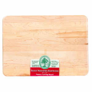 Snow River  15 in. W x 21 in. L Natural  Wood  Utility Cutting Board