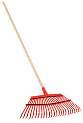 Corona 63 in. L x 19 in. W Steel Leaf Rake Wood Handle