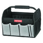 Craftsman  12 in. W x 10 in. H Ballistic Nylon  Tool Tote  7 pocket Black  1 pc.