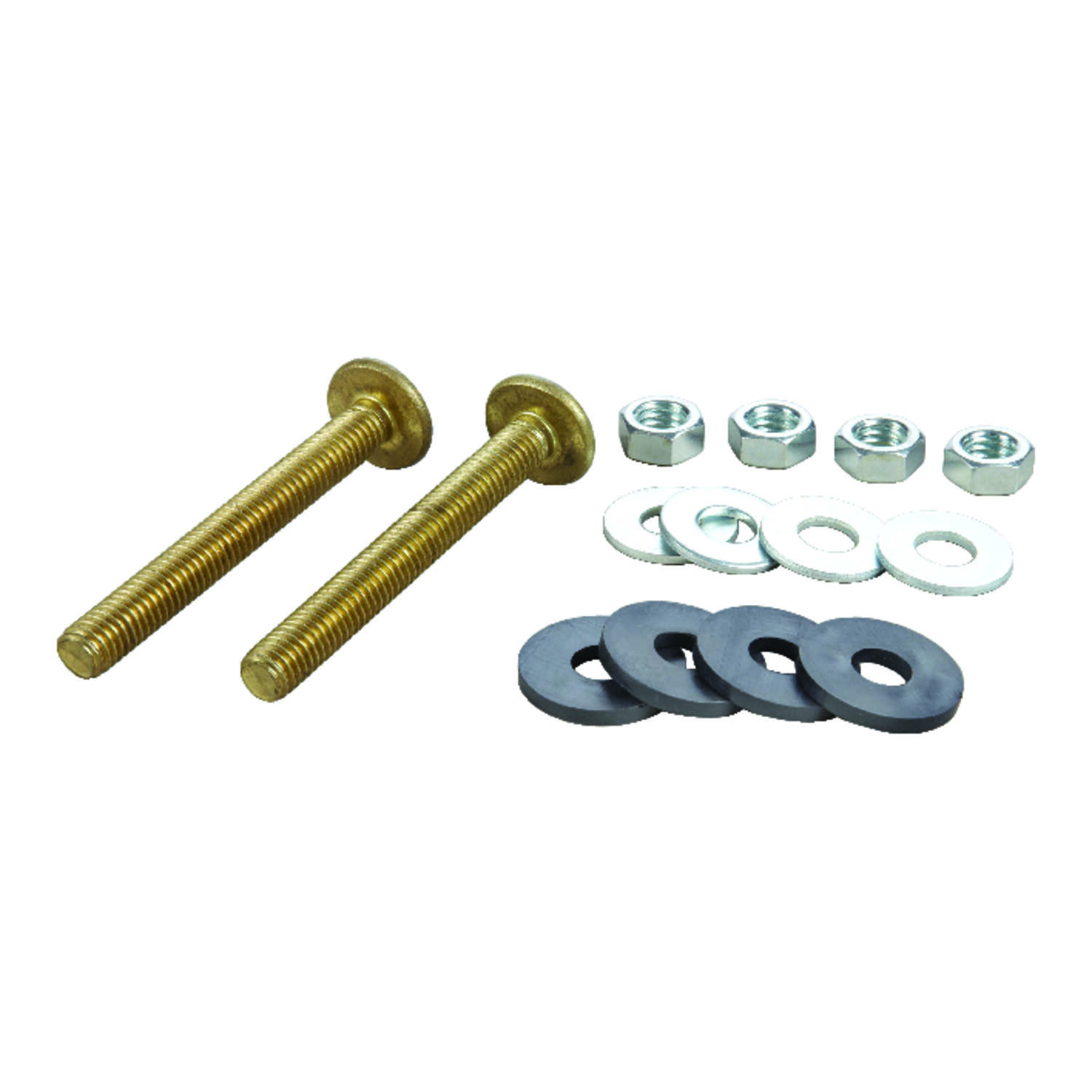 Ace  Tank to Bowl Bolts  3/8 in. W x 3-1/8 in. L Brass
