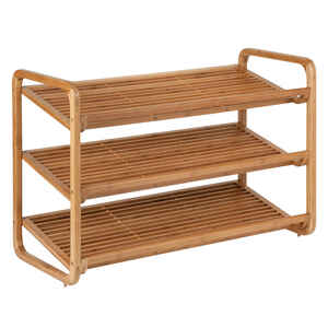 Honey Can Do  20 in. H x 13 in. W x 30 in. L Bamboo  Shoe Rack
