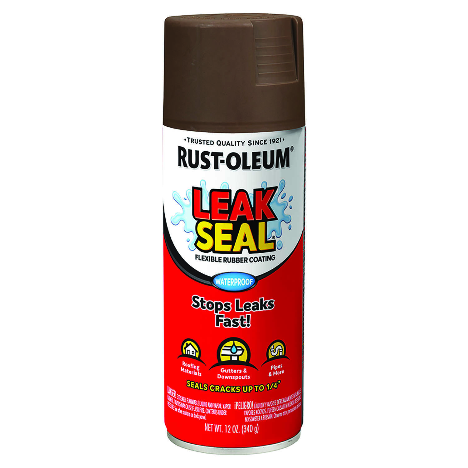 Rust-Oleum  Brown  Leakseal Flexible Rubber Sealant  12 oz.