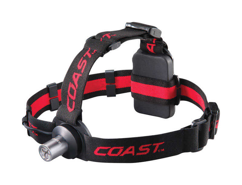 Coast  HL3  100 lumens Black  LED  Head Lamp  AAA