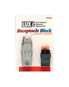 Lux  Metal  Receptacle Block Kit