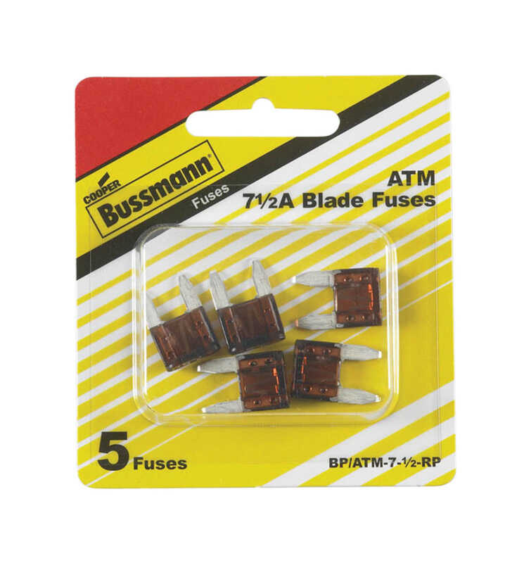 Bussmann  7.5 amps ATM  Mini Automotive Fuse  5 pk
