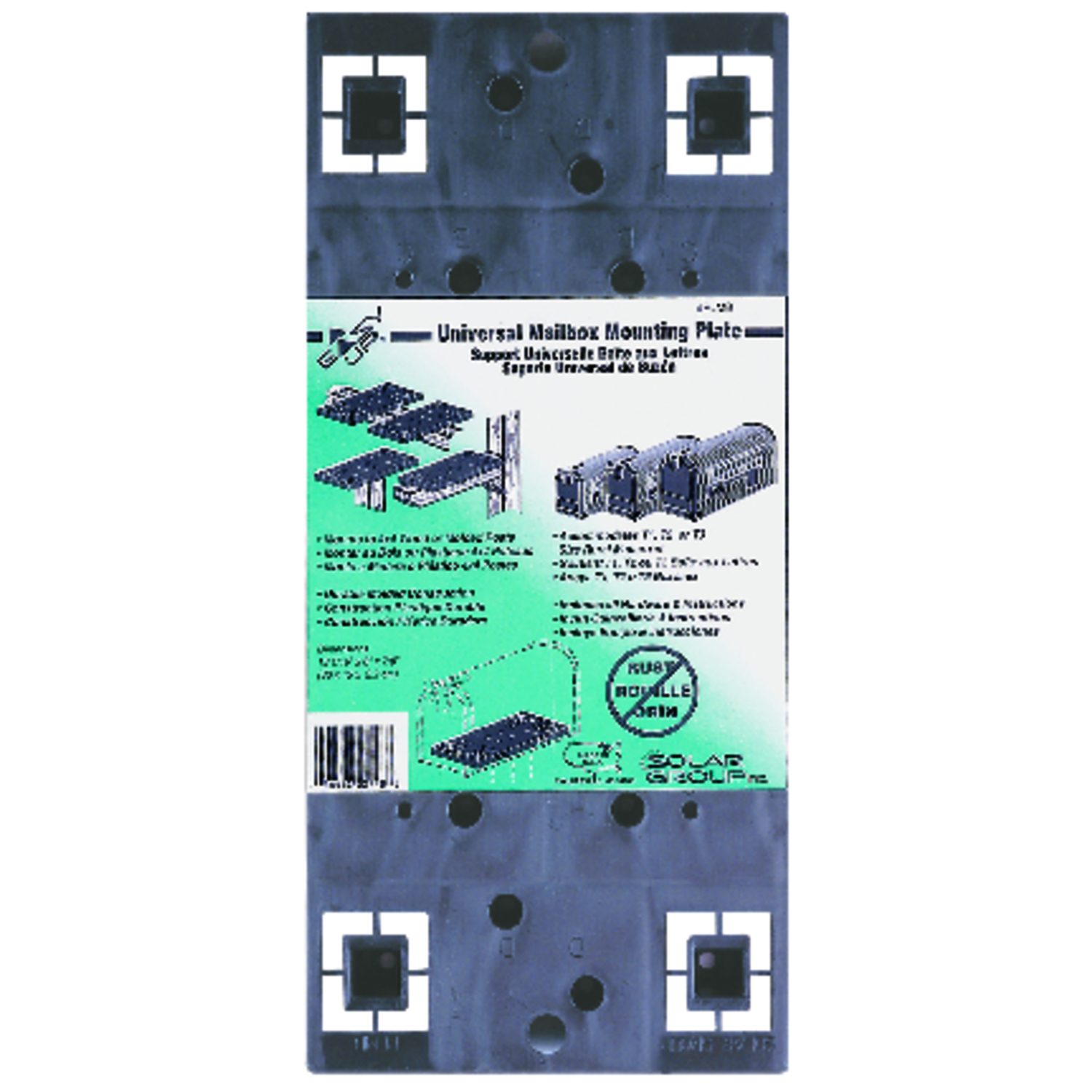 Gibraltar Mailboxes  Gibraltar Mailboxes  Black  Plastic  .090 Ga. Mailbox Mounting Board  7/8 in. H