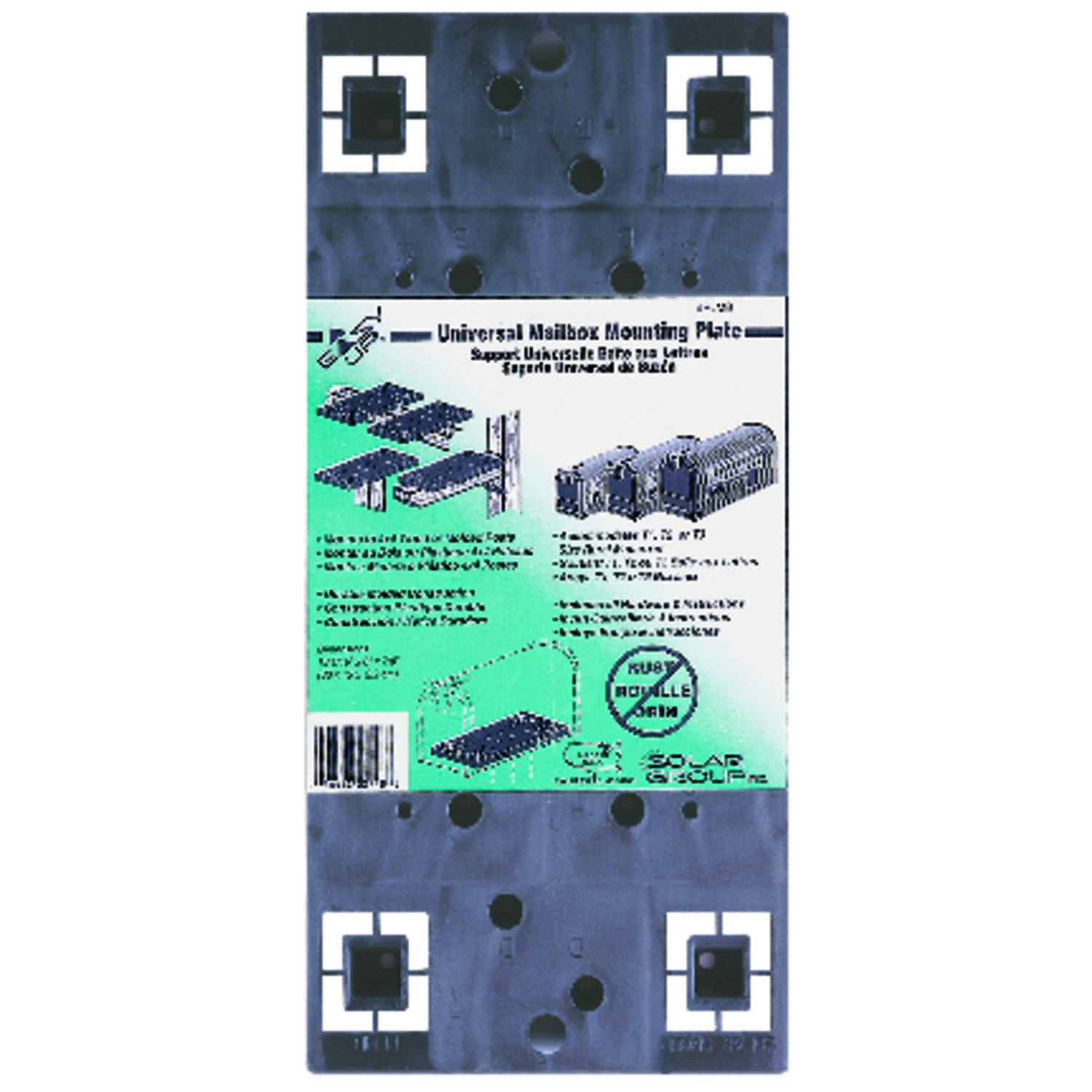 Gibraltar Mailboxes  Gibraltar Mailboxes  Black  Plastic  Mailbox Mounting Board  7/8 in. H x 13-1/1