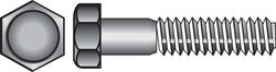 Hillman  1/4 in. Dia. x 2-1/2 in. L Zinc Plated  Steel  Hex Bolt  100 pk