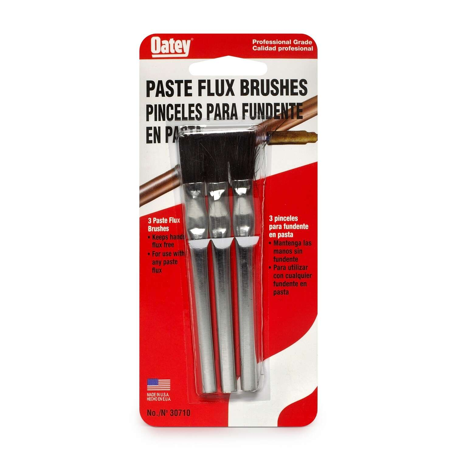 Oatey  4.6 in. L x 1 in. W Flux Brush  3 pk