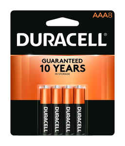 Duracell  Coppertop  AAA  Alkaline  Batteries  8 pk Carded