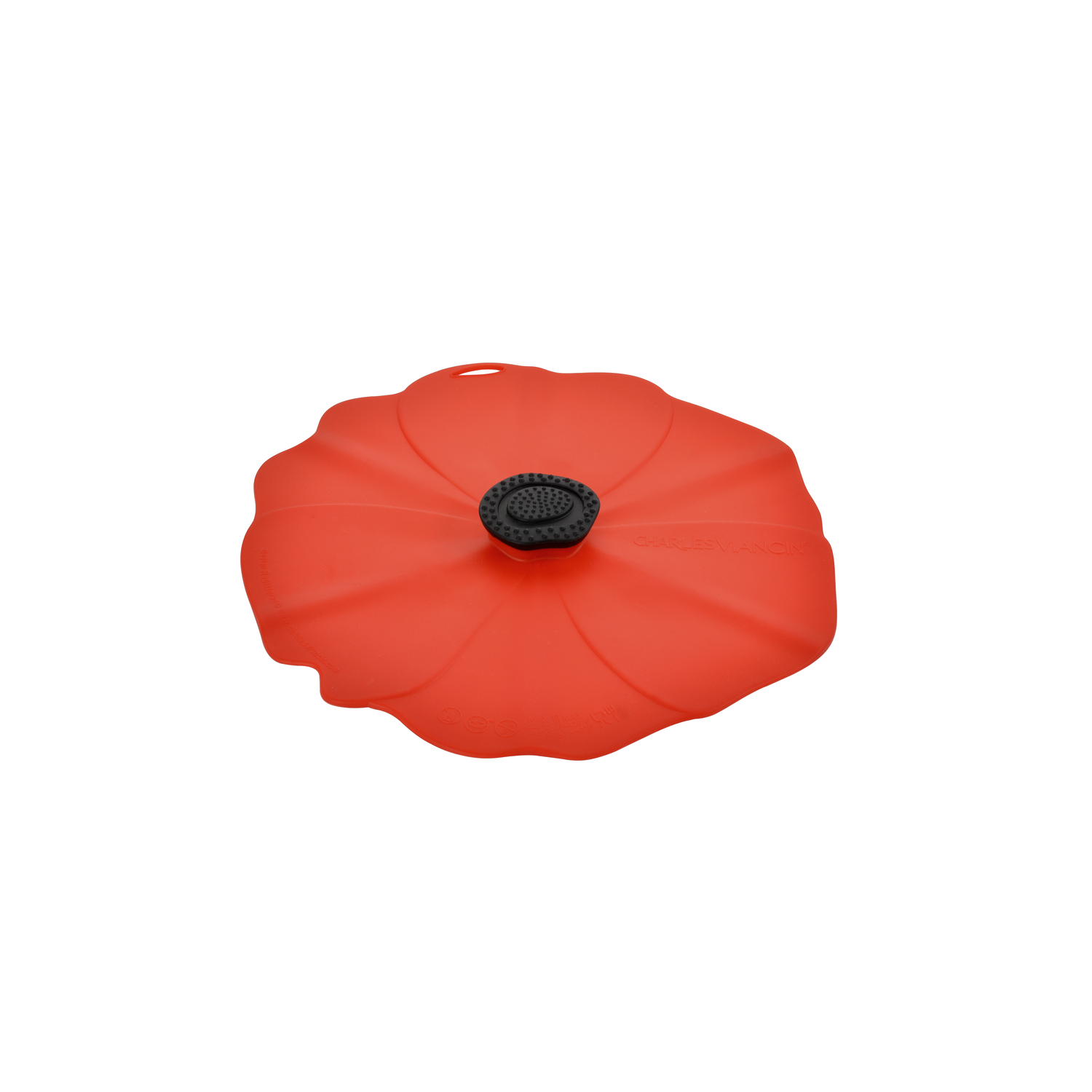 Charles Viancin  11 in. W Red  Large Poppy Lid