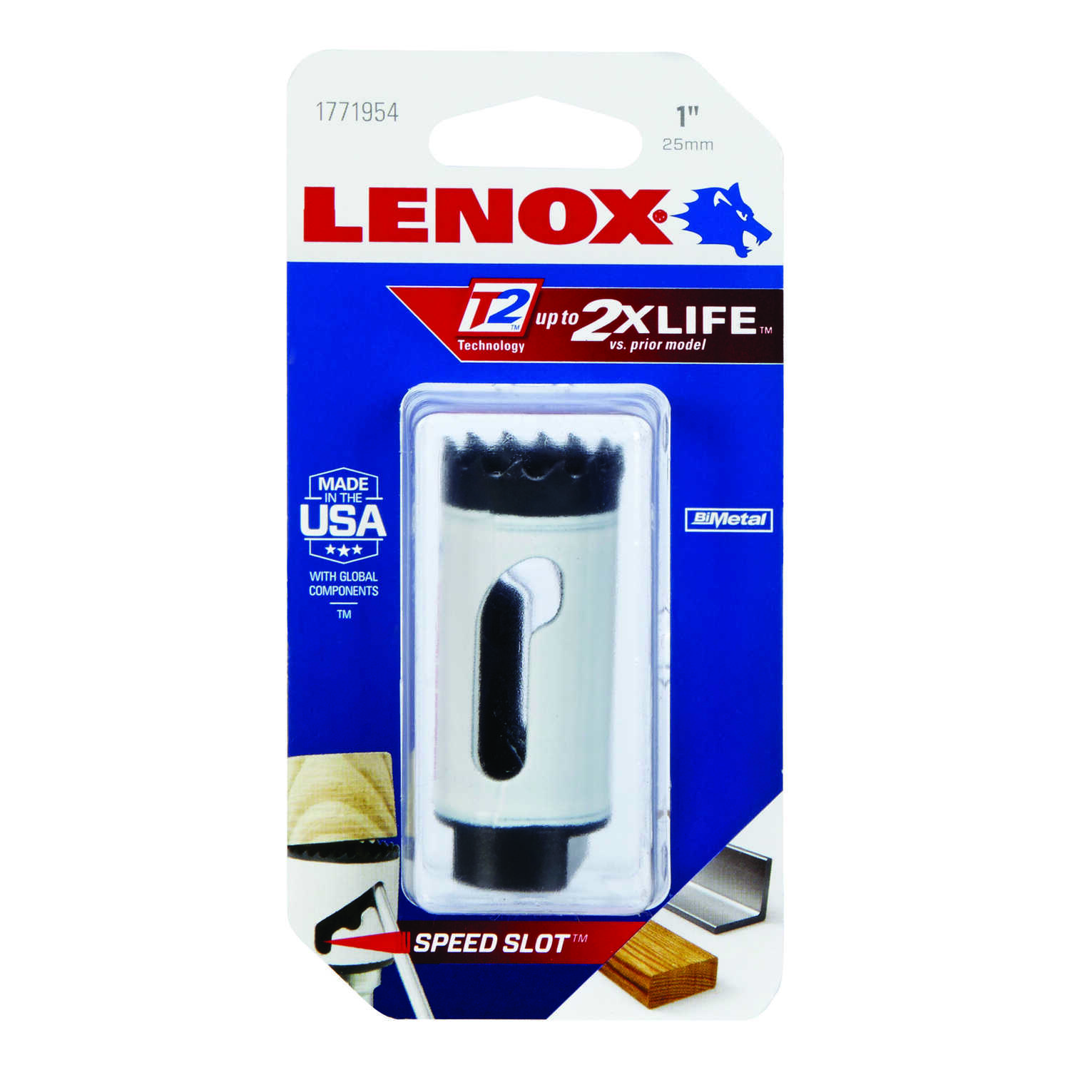 Lenox  Speed Slot  1 in. Dia. x 1.5 in. L Bi-Metal  Hole Saw  1/2 in. 1 pc.
