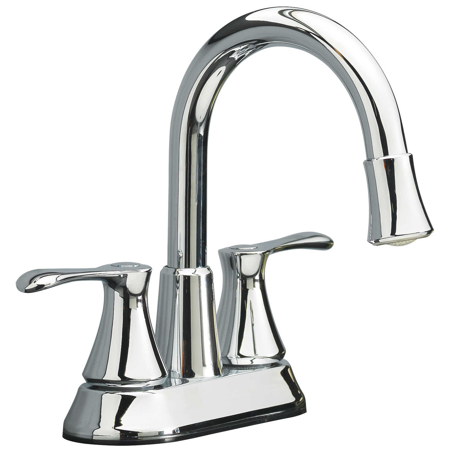 OakBrook  Doria  Doria  Two Handle LED  Lavatory Pop-Up Faucet  4 in. Chrome