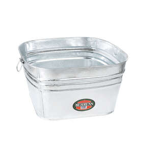 Behrens Tub With Side Drop Handles 15.5 Gal Galvanized