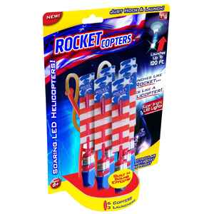 Rocket Copters  As Seen On TV  Launching Toy  Plastic