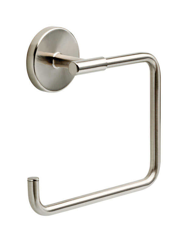 Delta  Lyndall  Satin Nickel  Towel Ring  Die Cast Zinc