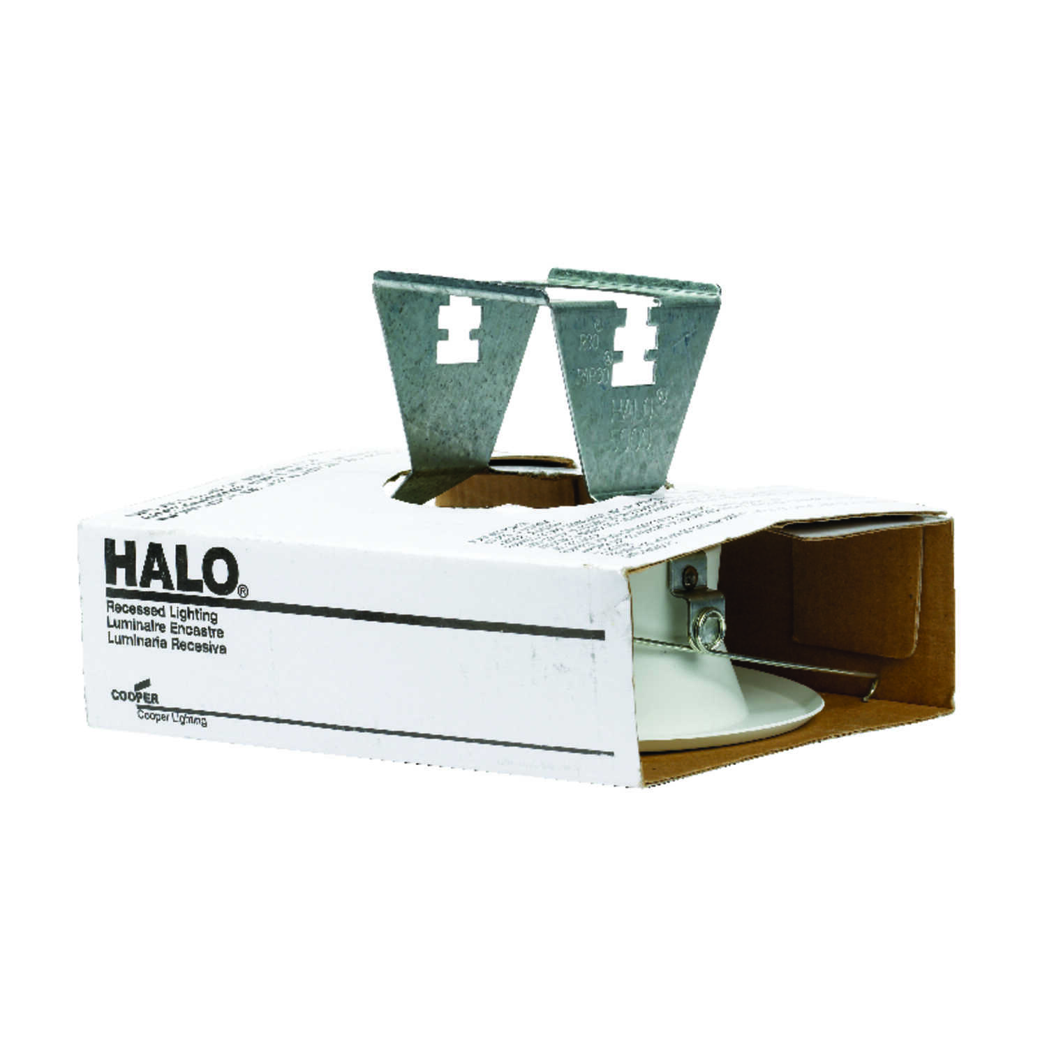 Halo  Matte  White  5 in. W Metal  Recessed Light Trim