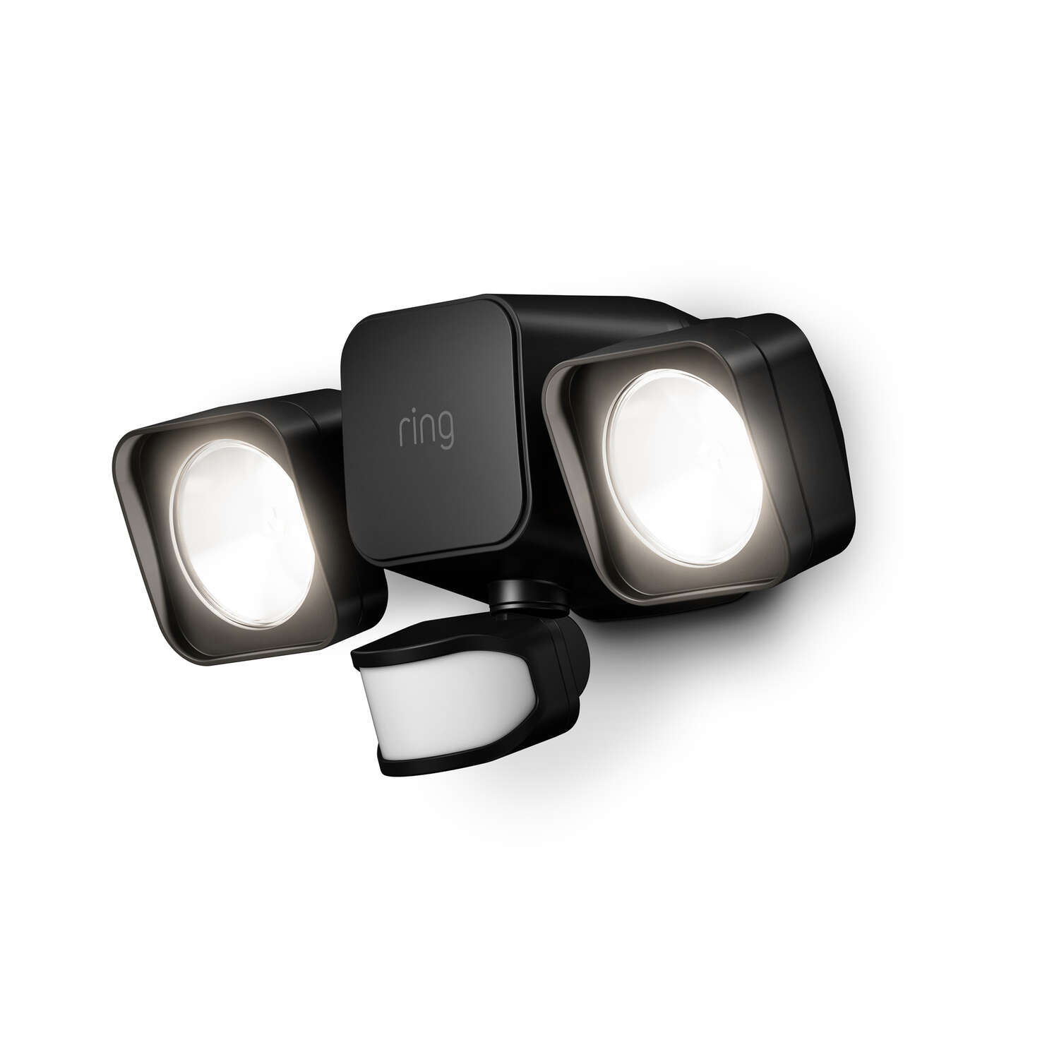 Ring  Motion-Sensing  Battery Powered  LED  Black  Floodlight