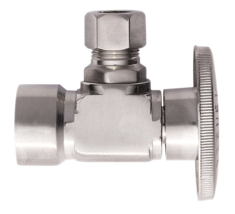 Keeney  1/2 in. FIP   x 3/8 in.  Brass  Shut-Off Valve
