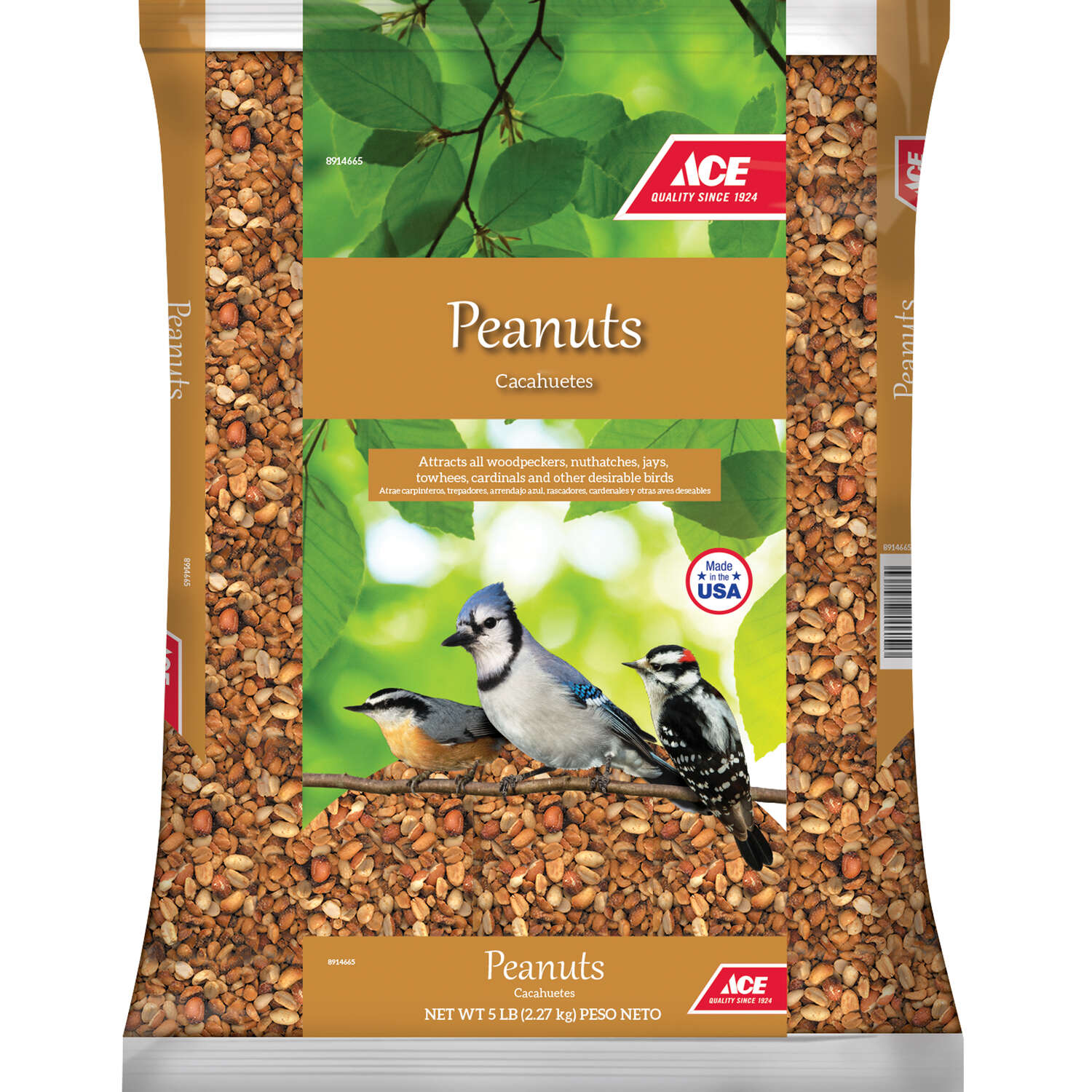 Ace  Shelled Peanuts  Songbird  Peanuts  Peanut Pieces  5 lb.