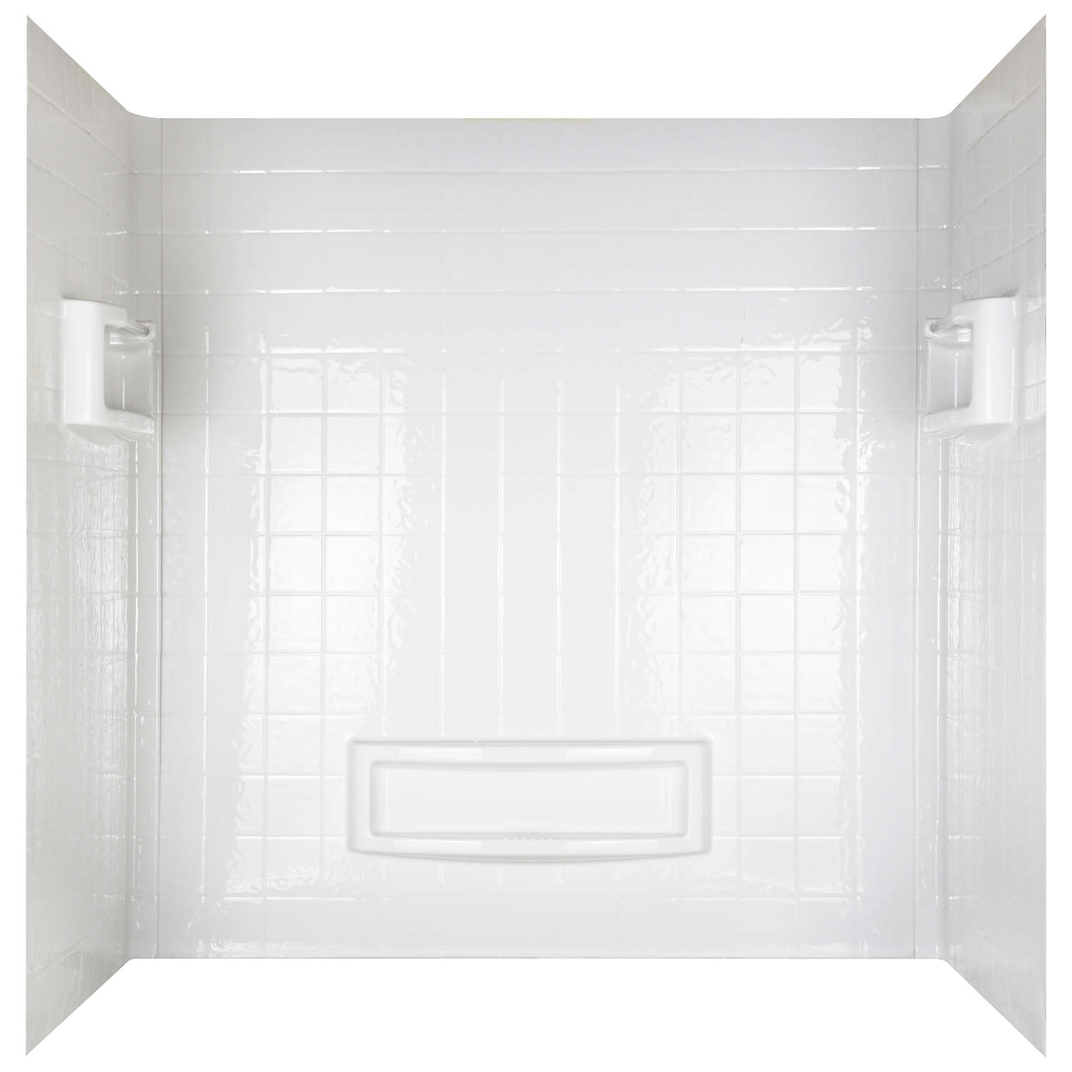ASB  Distinction  60 in. H x 60 in. W x 32 in. L White  Bathtub Wall