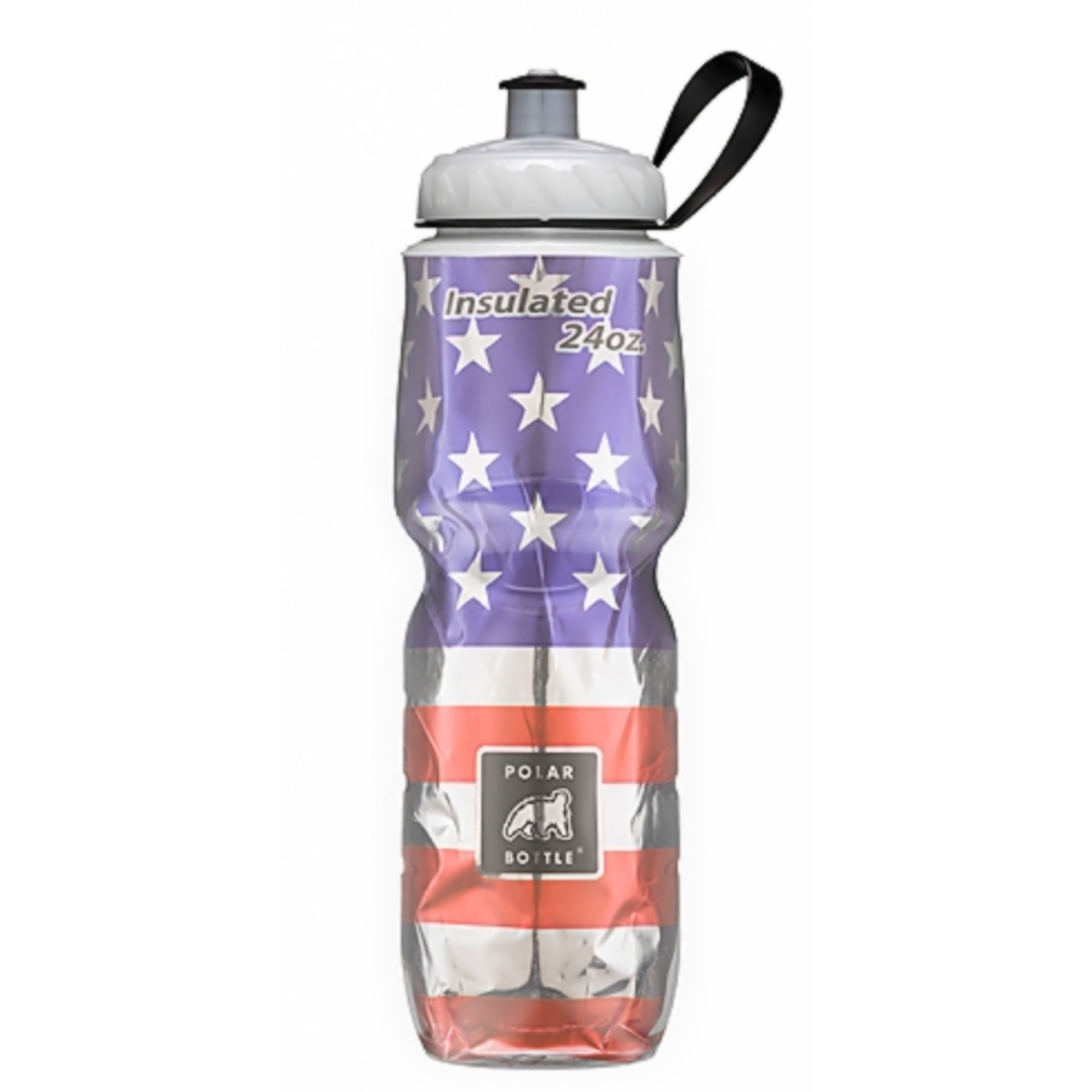 Polar Bottle  Blue/Red/Silver  Plastic  Double Wall Insulation  BPA Free 24 oz. Water Bottle