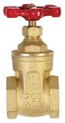 BK Products ProLine 1 in. FIP Brass Gate Valve Lead-Free