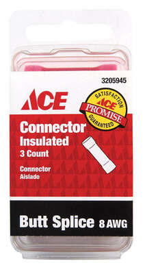 Ace Butt Connector Pink 3 pk